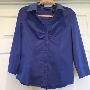 New York & Company Blue Collared Button-Down